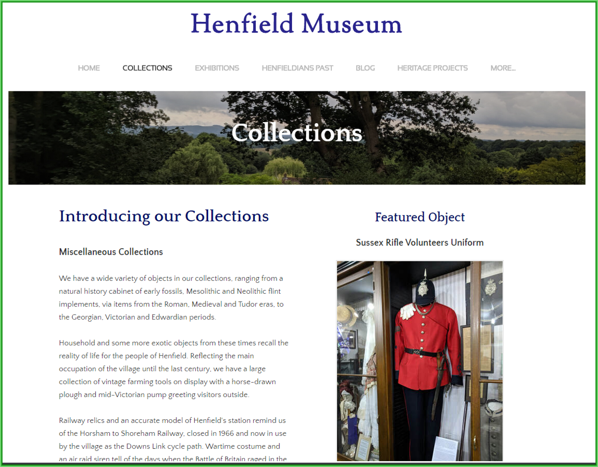 Museum website